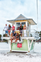 Hanging out on the lifeguard tower