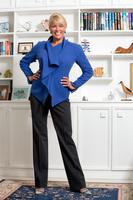 Woman in blue blouce