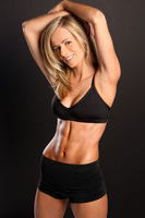 Woman smiling in workout wear