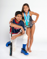 Brother and Sister sports portrait