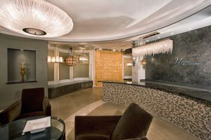 Interior of lighting showroom