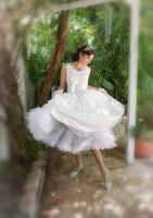 Bride spinning dress