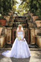 Bride at Vizcaya Gardens Miami Fl.