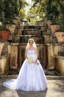 Bride at Vizcaya Gardens Miami Fl.