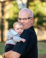 Grandson and grandfather