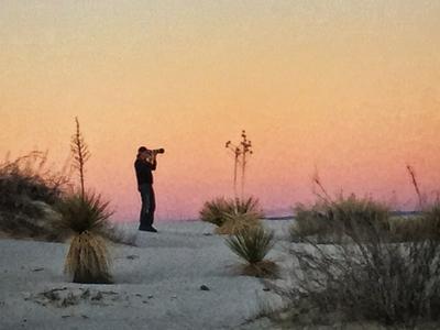 Sunset White Sands National Park NM