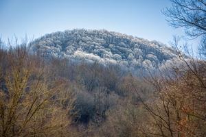 Snow kissed mountain top