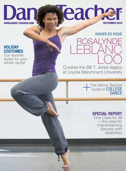 Dance Teacher Magazine Cover