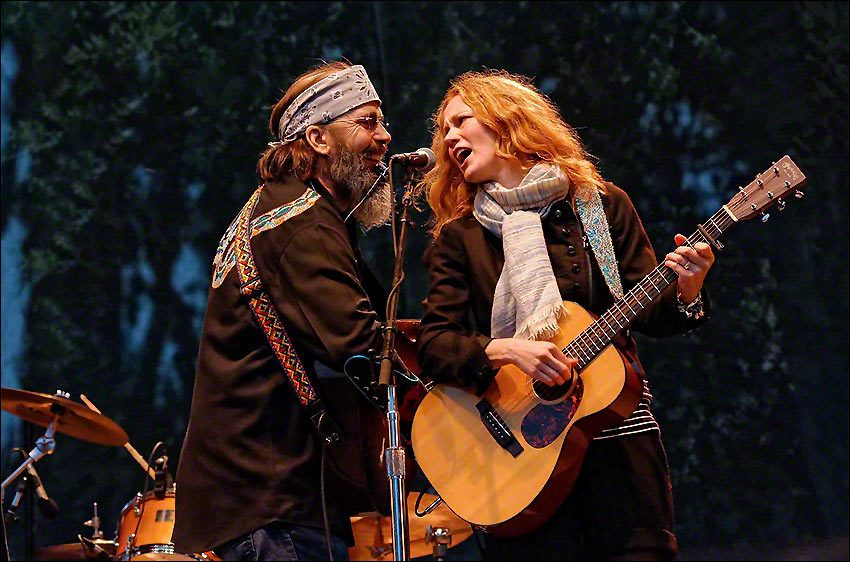 Steve Earle & Alison Moorer at Hardly Strictly Bluegrass 10