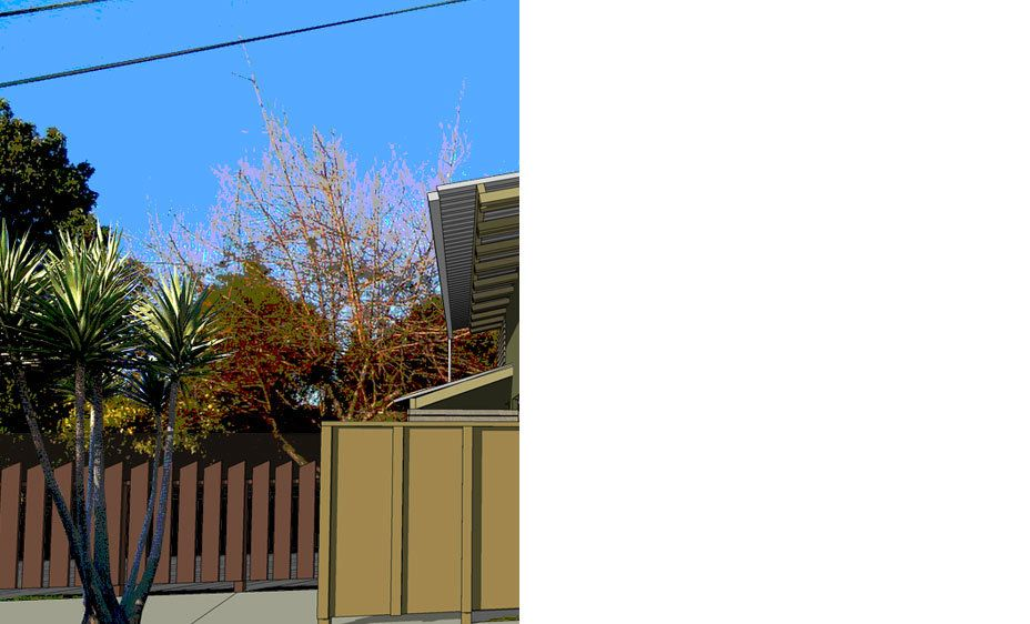 "Frakes Garden Cottage:  New Construction, 2005Size: 1,500 s.f. Location: Niles, California""Look: I'm tired of maintaining my property as a city park for the pleasure of the neighborhood.  This house is ridiculously small, with buildable land all around it."