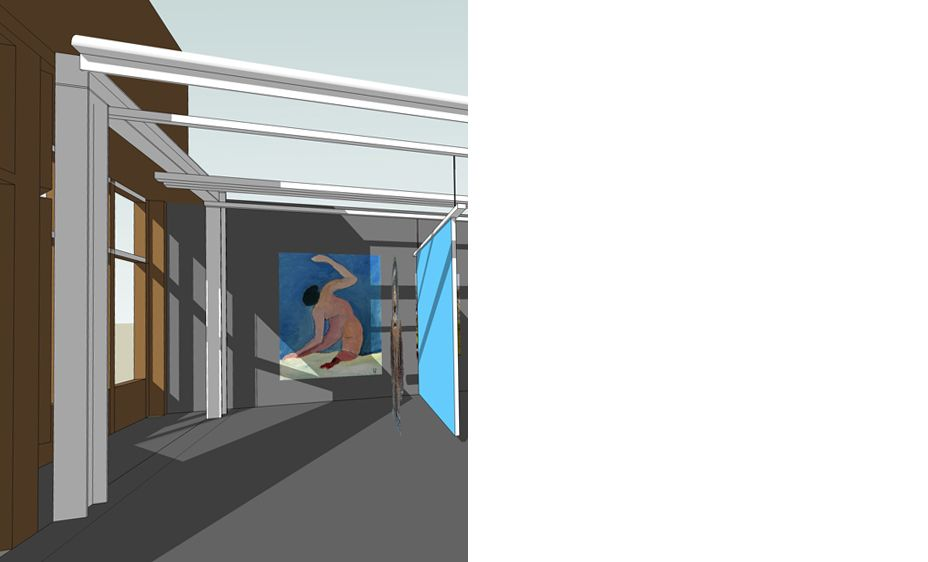 Niles Community Gallery: Facade Improvements & Interior Alterations, 2007Original Architect: UnknownSize: 5,000 s.f., Two StoryLocation: Niles, CaliforniaThis pro bono work was provided to the Fremont Art Association. With minimal tenant improvements, this