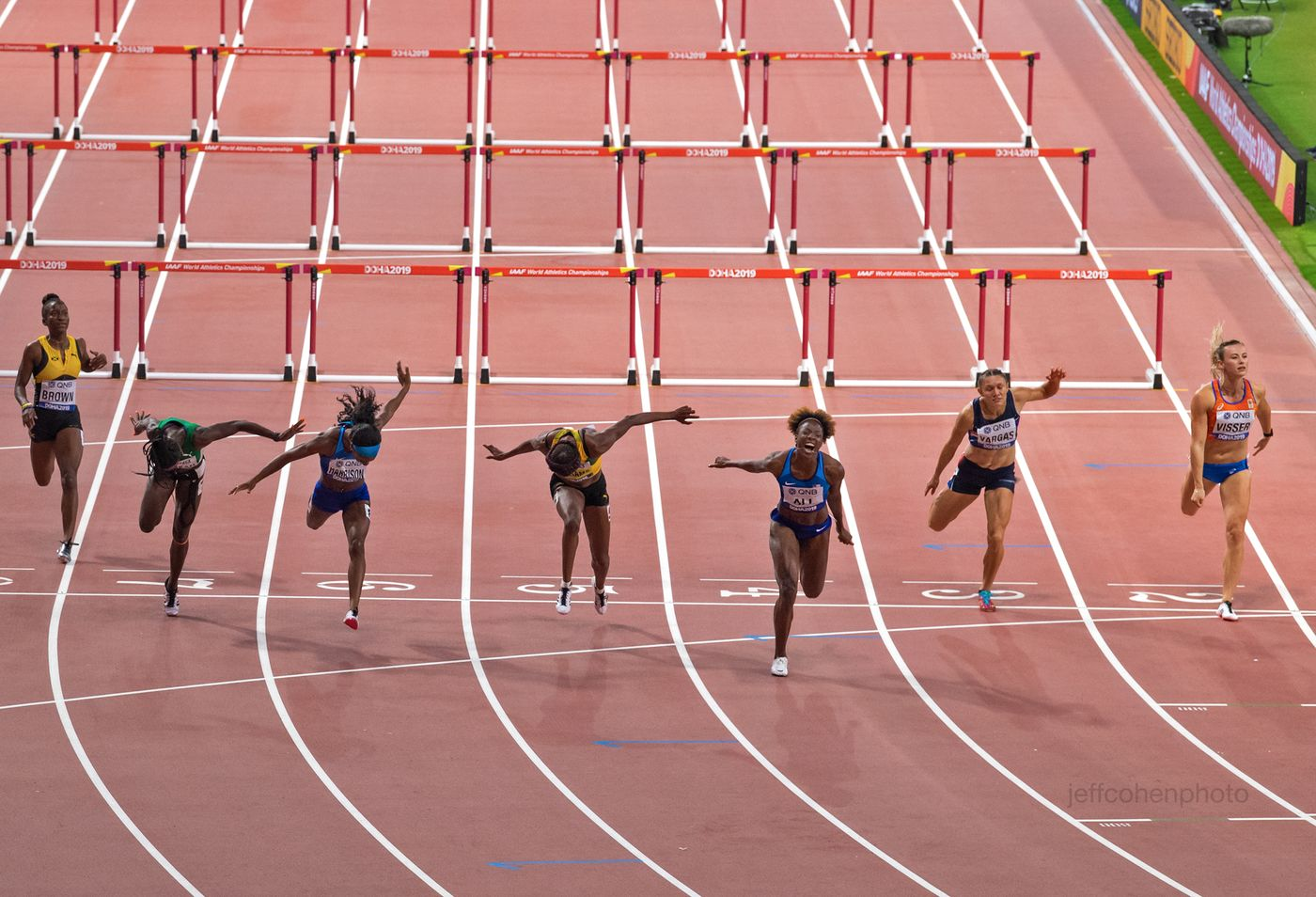 Nia ALi 100 meter hurdles, world champion