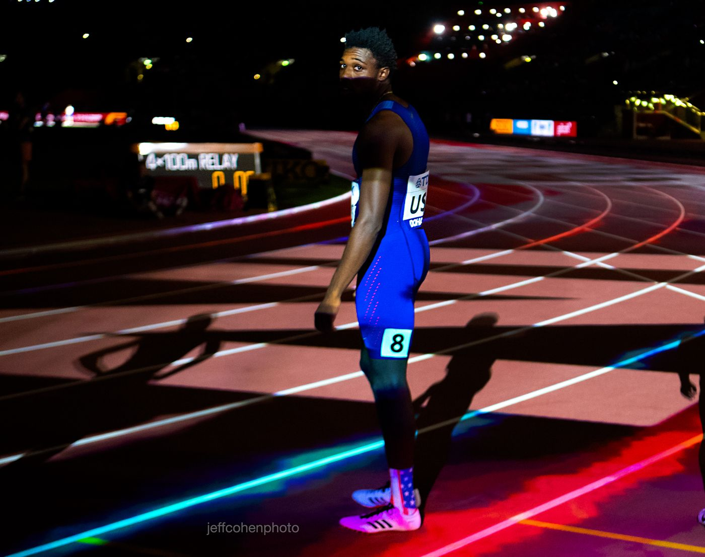 Noah Lyles, team USA 4x100 meter relay, 2019 iaaf world athletics championships doha, qatar