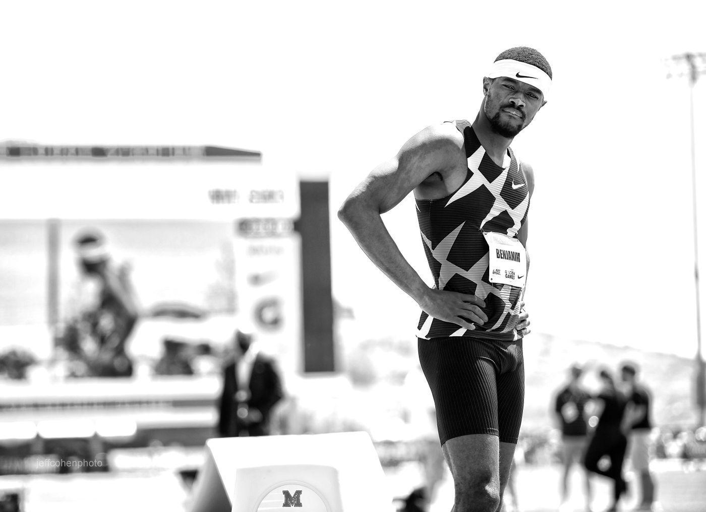 Rai Benjamin 400 meter hurdles