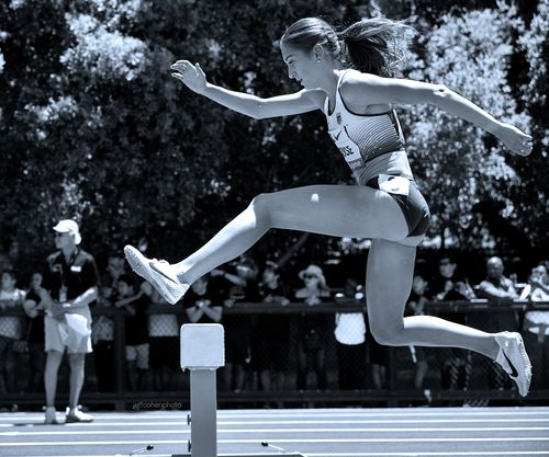 Gesa Krause, Germany, steeplechase 2019 Prefontaine Classic. Palo Alto, California.