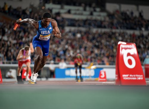 Mylik Kerley, USA. 2019 IAAF World relays. Yokohama, Japan.