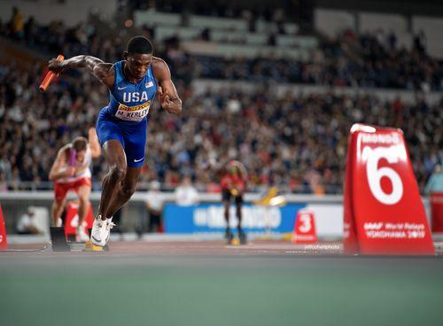 Mylik Kerley, USA. 2019 IAAF World relays. Yokohama, Japan.