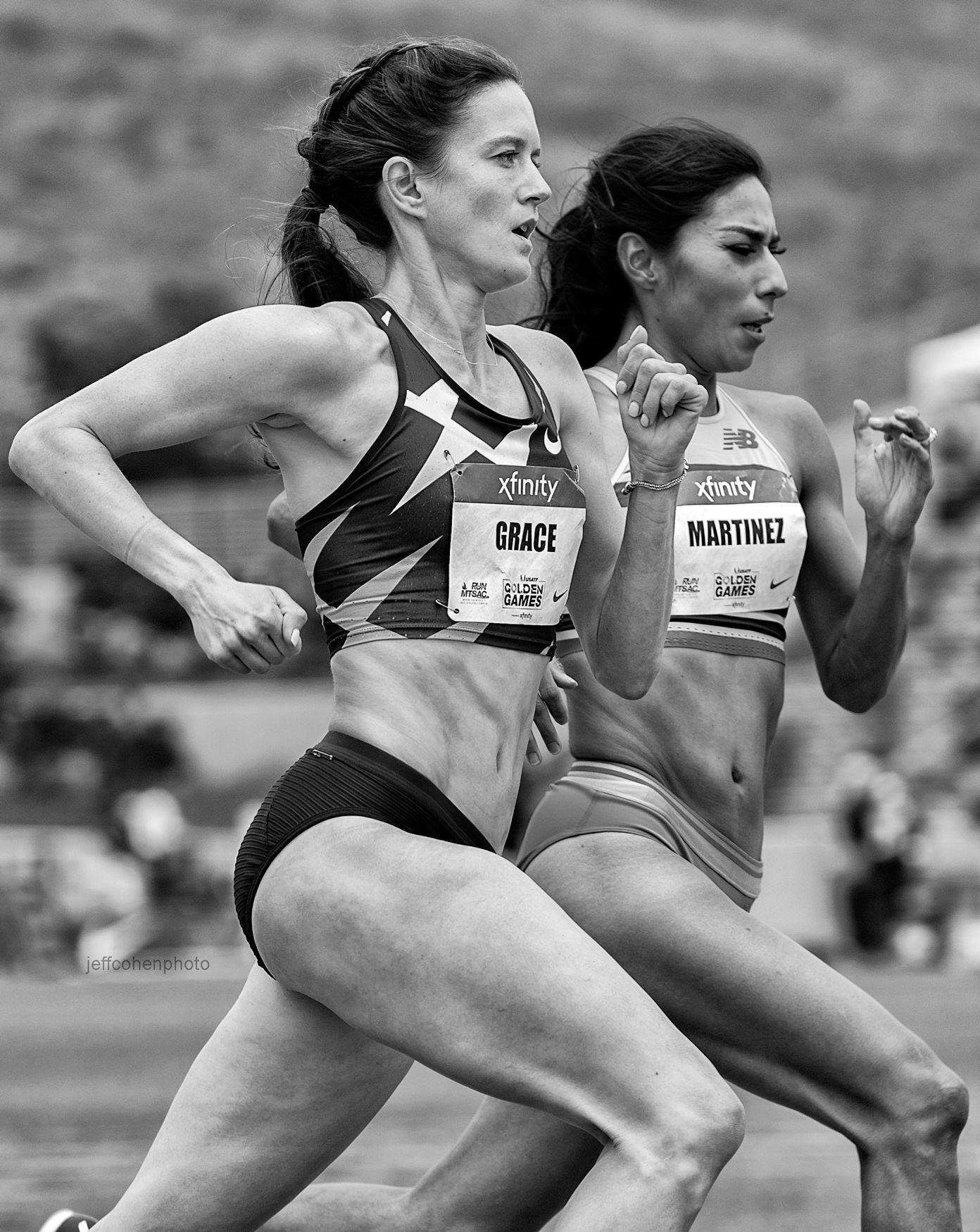 Kate Grace and Brenda Martinez, 800 meters , 2021 USATF Golden Games