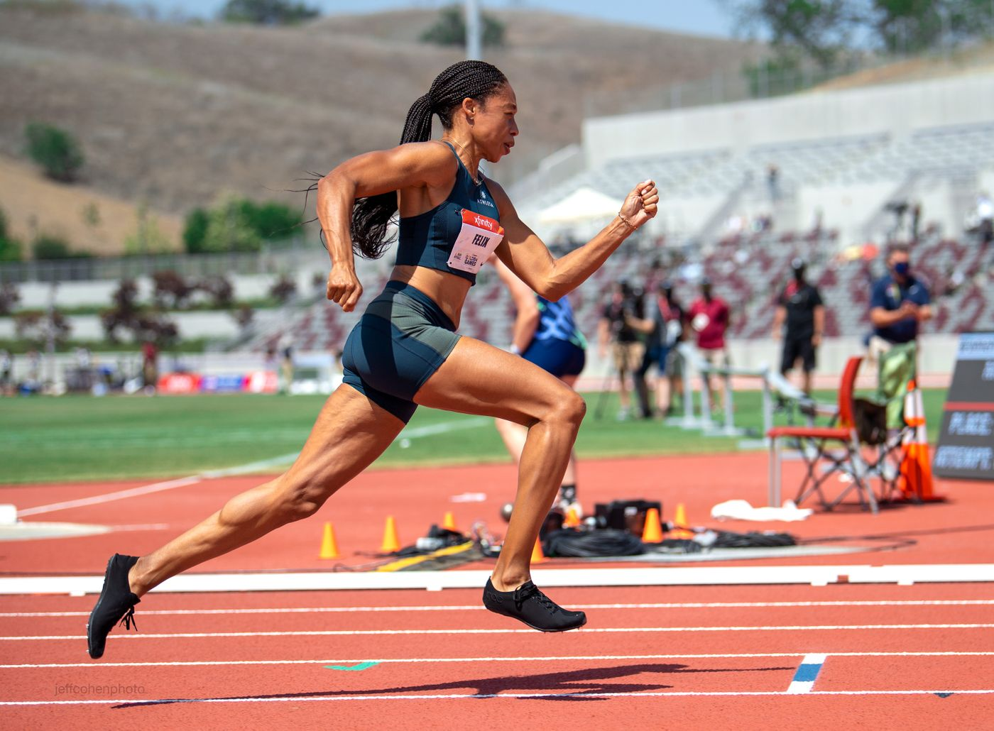 Allyson Felix, 200 meters , 2021 USATF Golden Games , Mt Sac