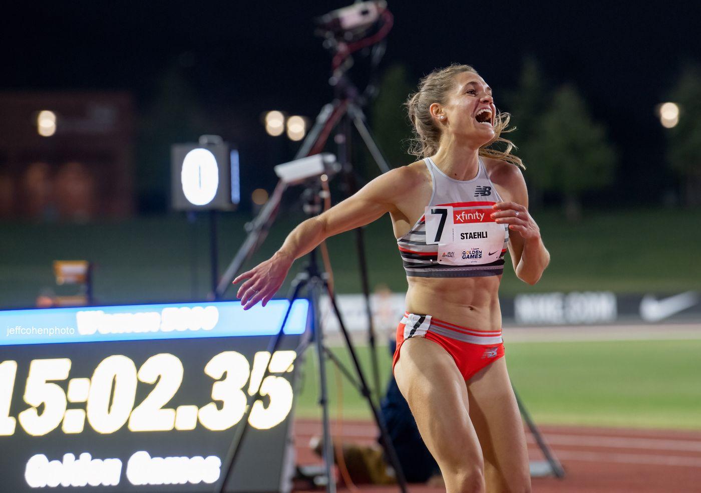 Julie-Anne Staehli, 5000 meters , 2021 USATF Golden Games