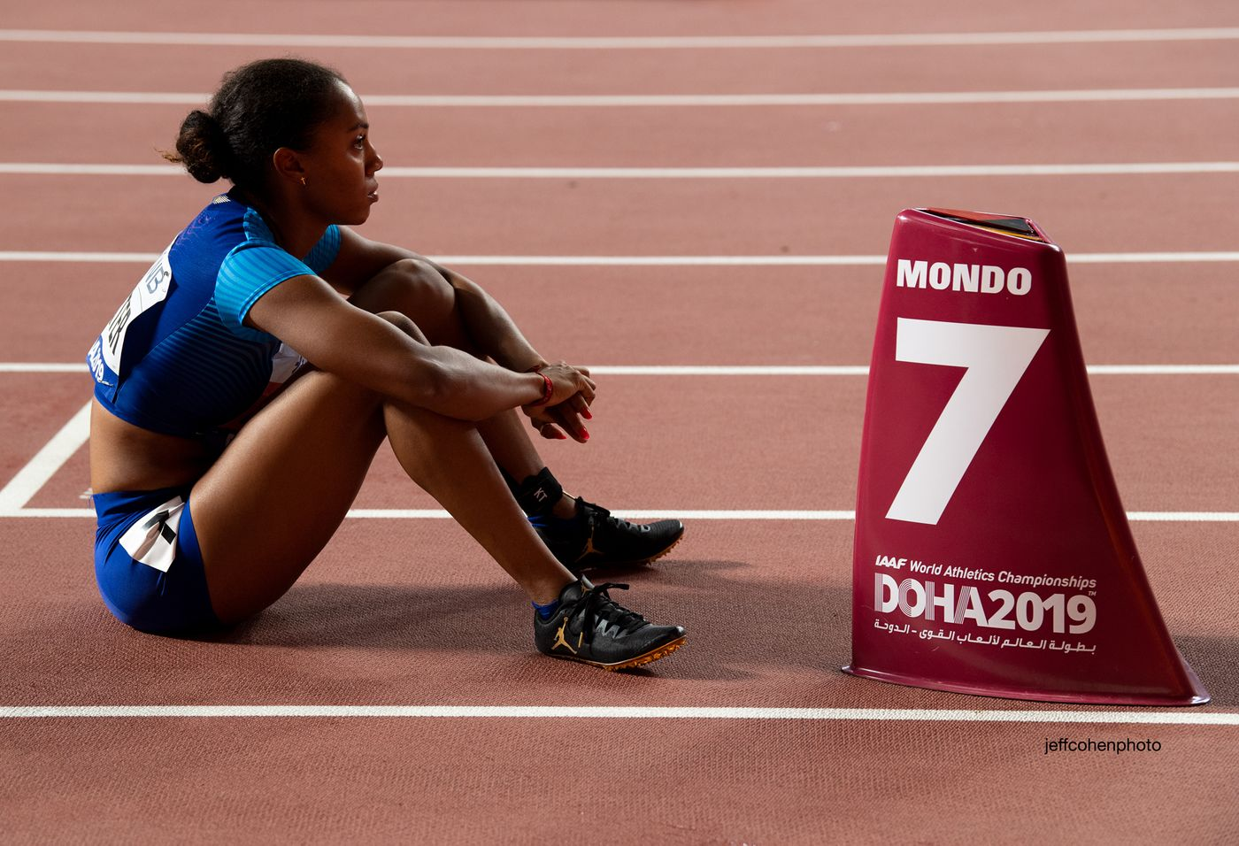 Kori Carter, 400 meter hurdles, world champion.  2019 iaaf world athletics championships doha qatar.