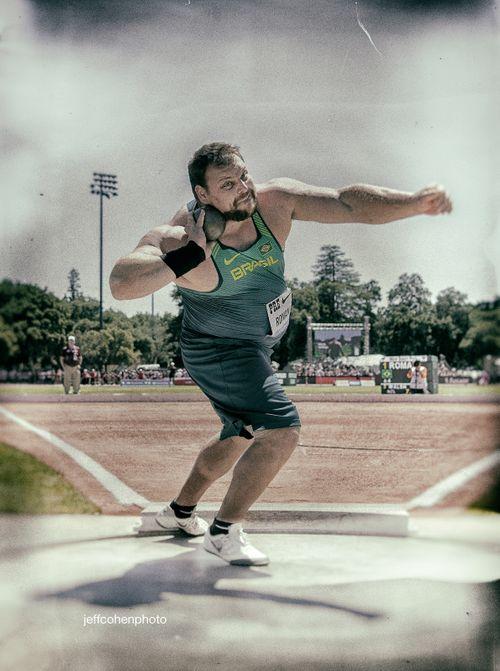 Darlan Romani, Brazil, shot put, 2019 Prefontaine Classic.