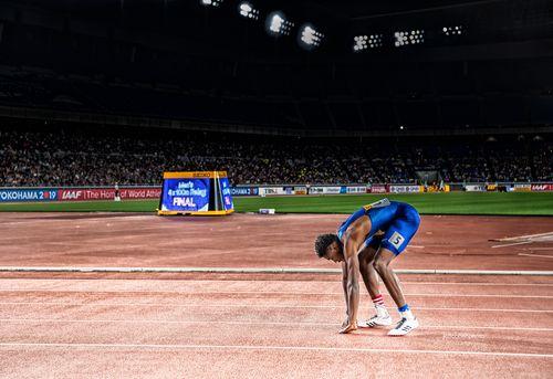 noah lyses, team USA , 4x100m relay Iaaf world relays, Yokohama Japan.