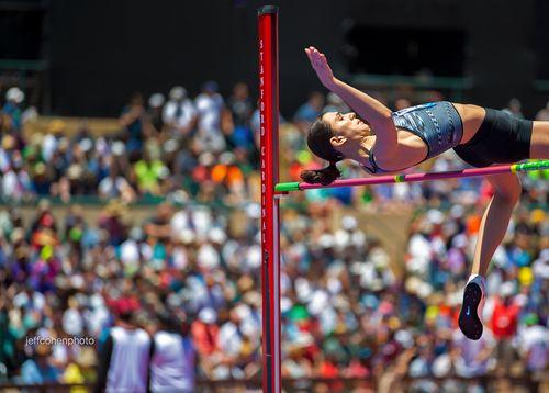 Mariya Lasitskene, Russia, high jump.  2019 Prefontaine Classic.