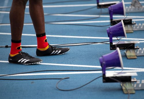 2018 USATF Outdoors day 2 lyles socks 100m   559  jeff cohen photo  .jpg