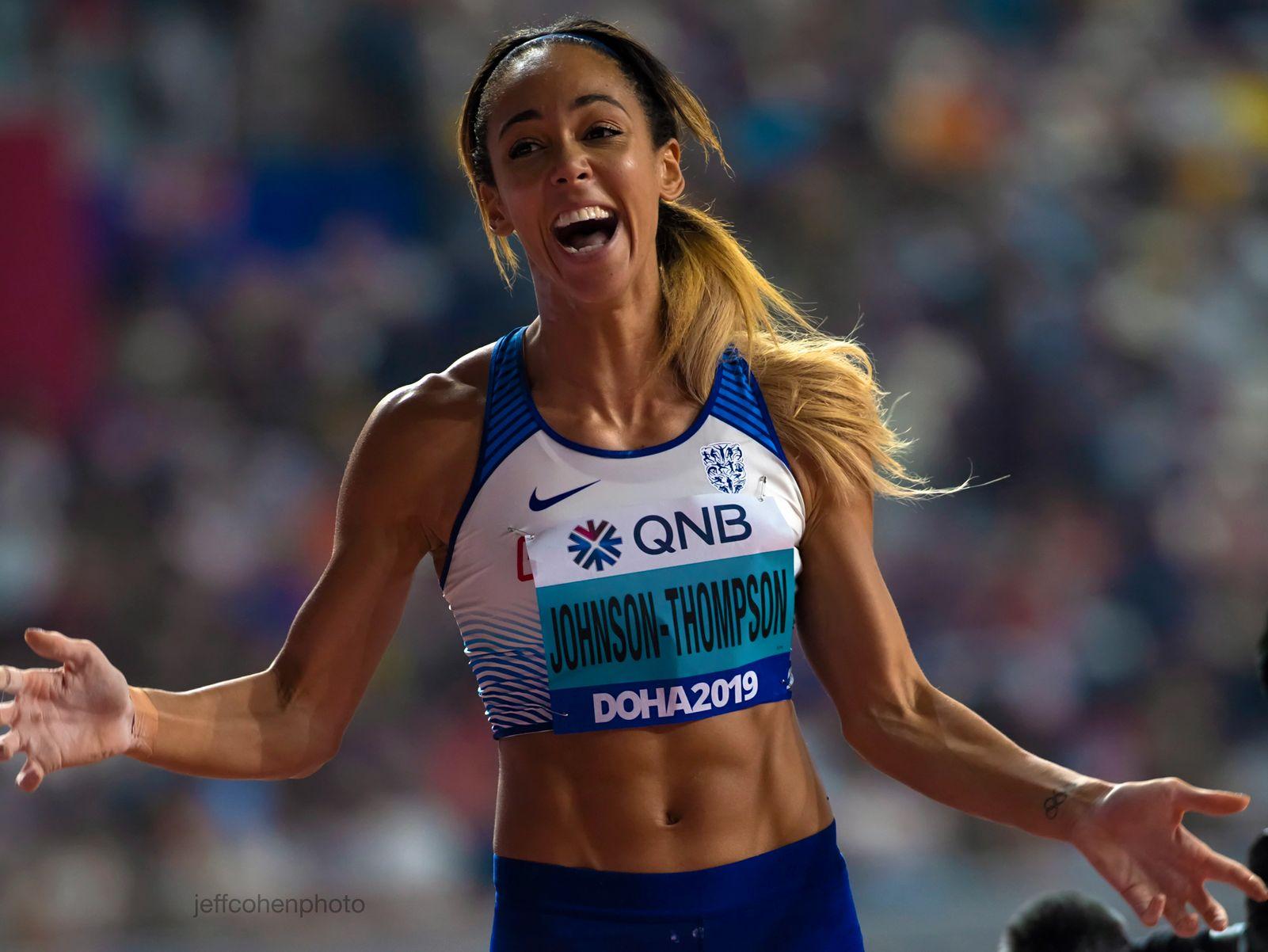 Katarina Johnson thompson, heptathlon. 2019 iaaf world athletics championships doha,qatar
