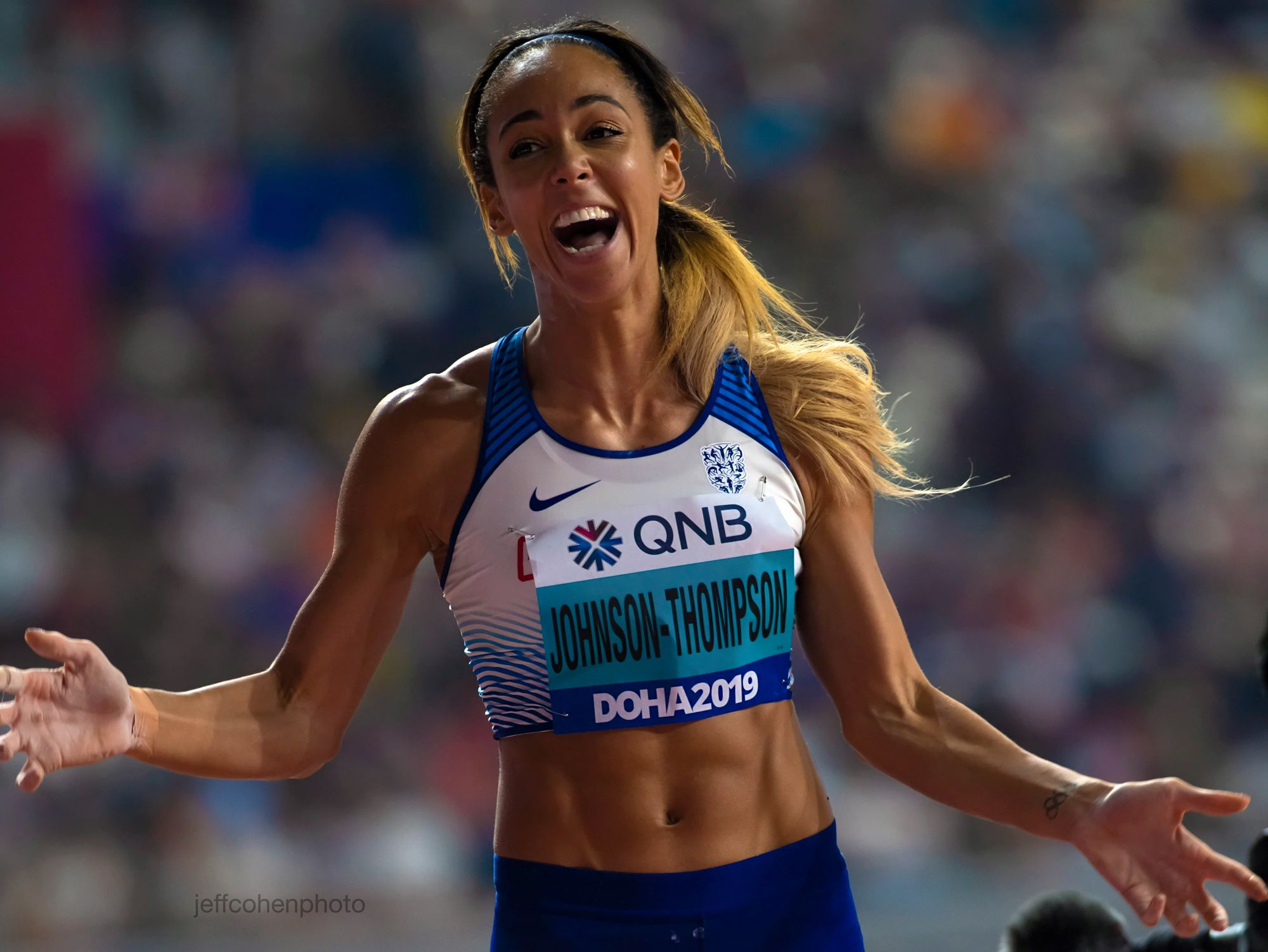 Katarina Johnson thompson, heptathlon. 2019 iaaf world athletics championships doha,qatar