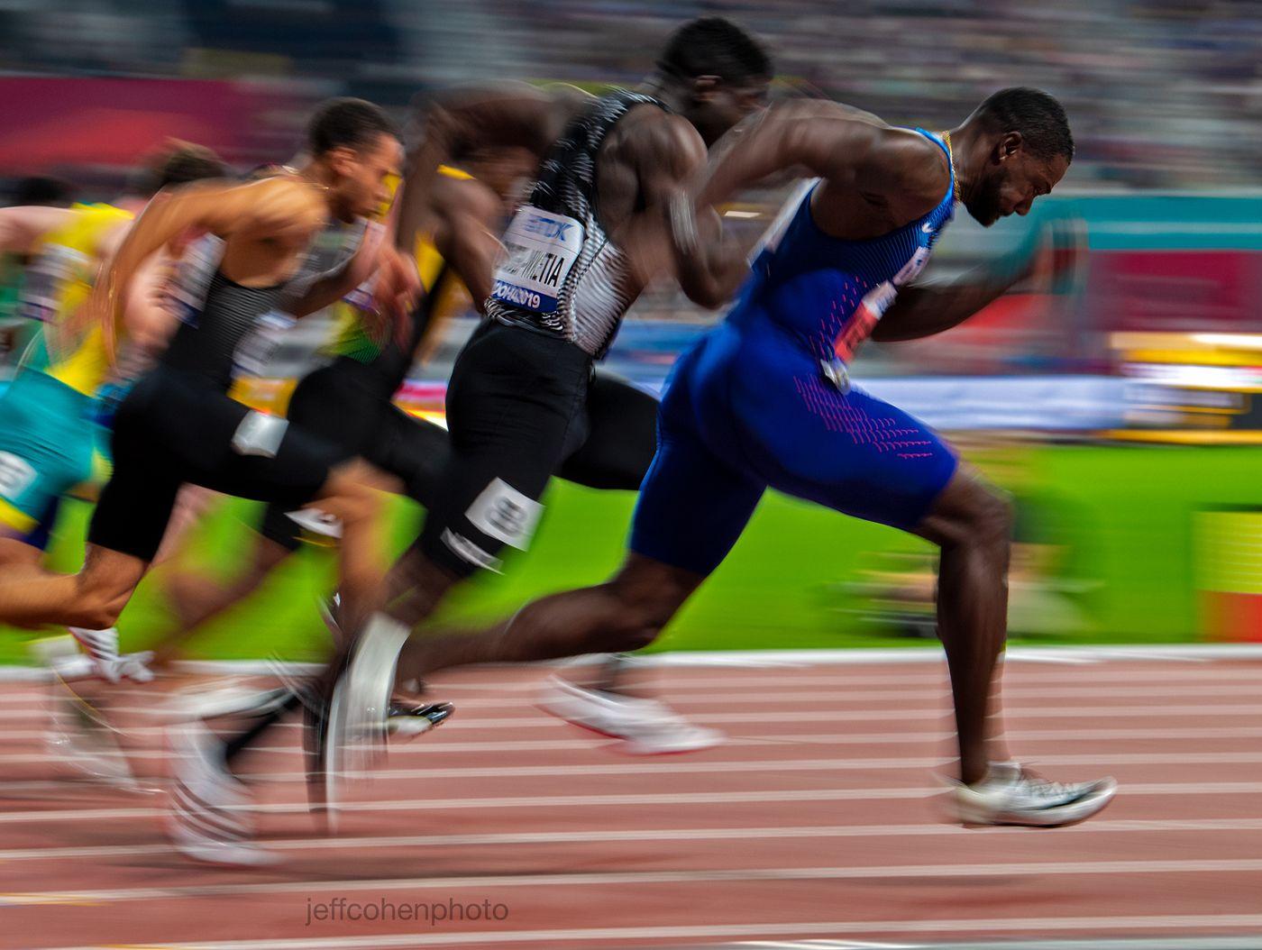 Justin Gatlin, USA, 100 meters .2019 IAAF WORLD CHAMPIONSHIPS DOHA