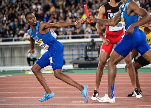 Paul Dedewo, USA, 2019 IAAF World Relays. Yokohama, Japan.