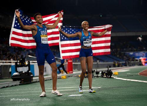 Brazier brown yokohama world relays