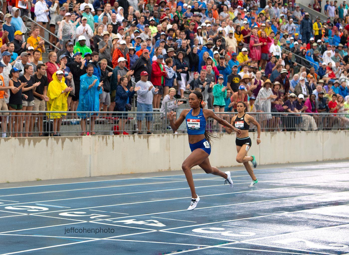 Dalilah Muhammad, WORLD RECORD, 400 meter hurdles . 2019 Toyota USATF Outdoor Championships, Des Moines, Iowa. July 28, 2019