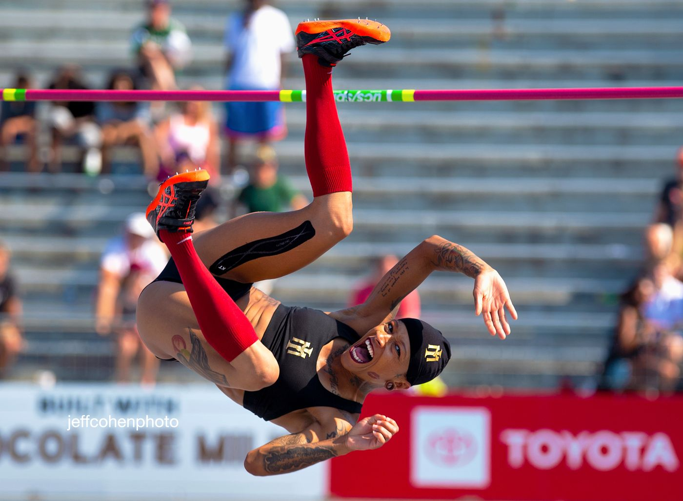 Inika Mcpherson, High Jump, 2019 Toyota USATF Outdoor Championships, Des Moines, Iowa.