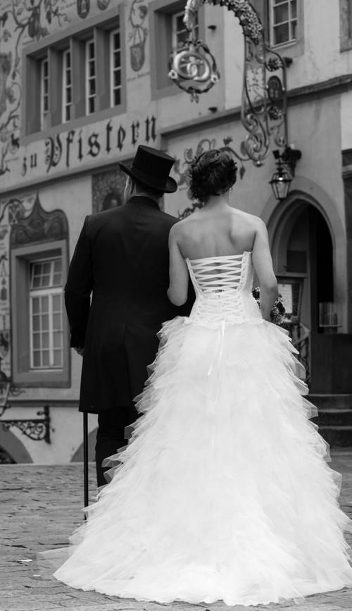 Hochzeit Braut und Bräutigam