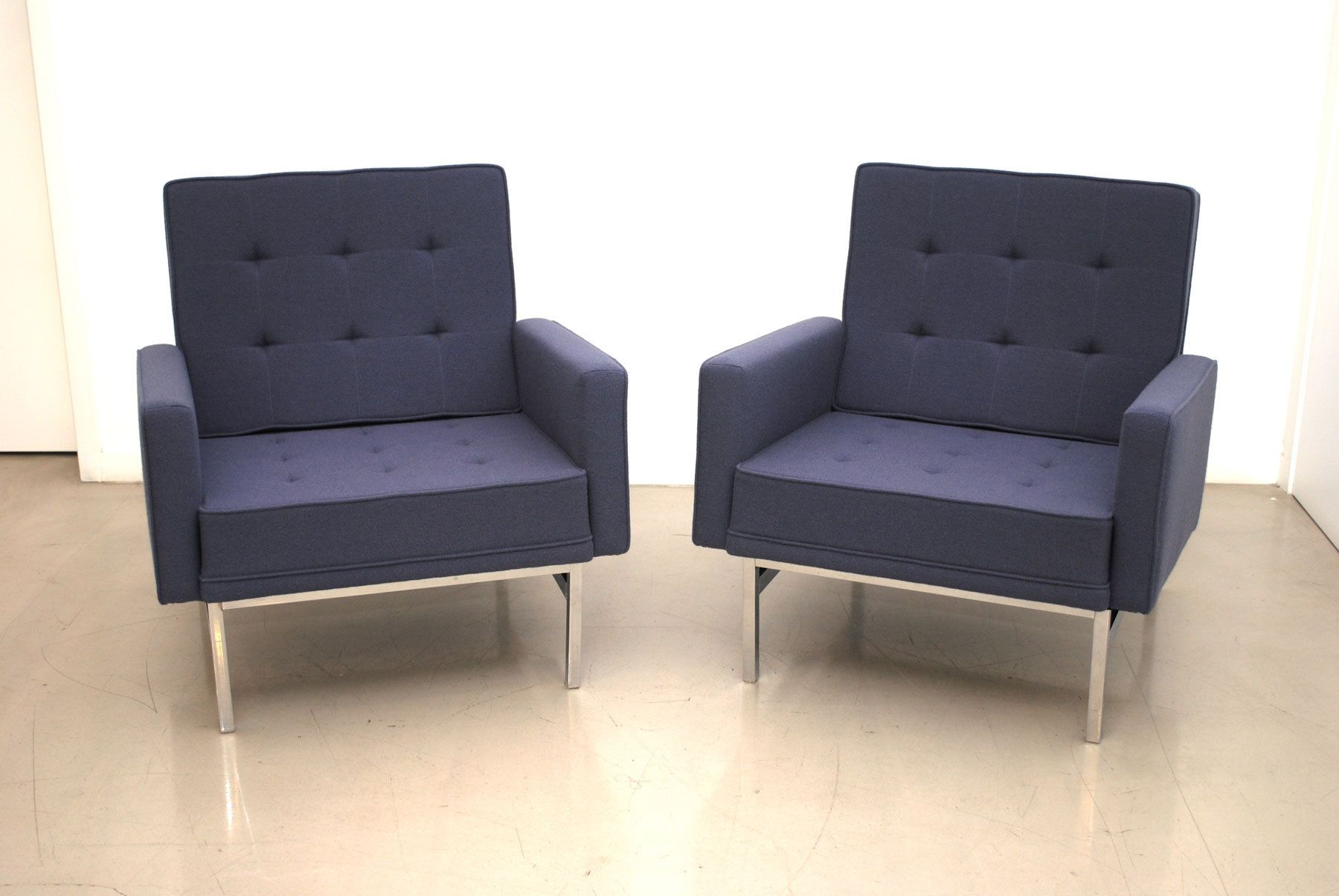 Florence Knoll club chairs