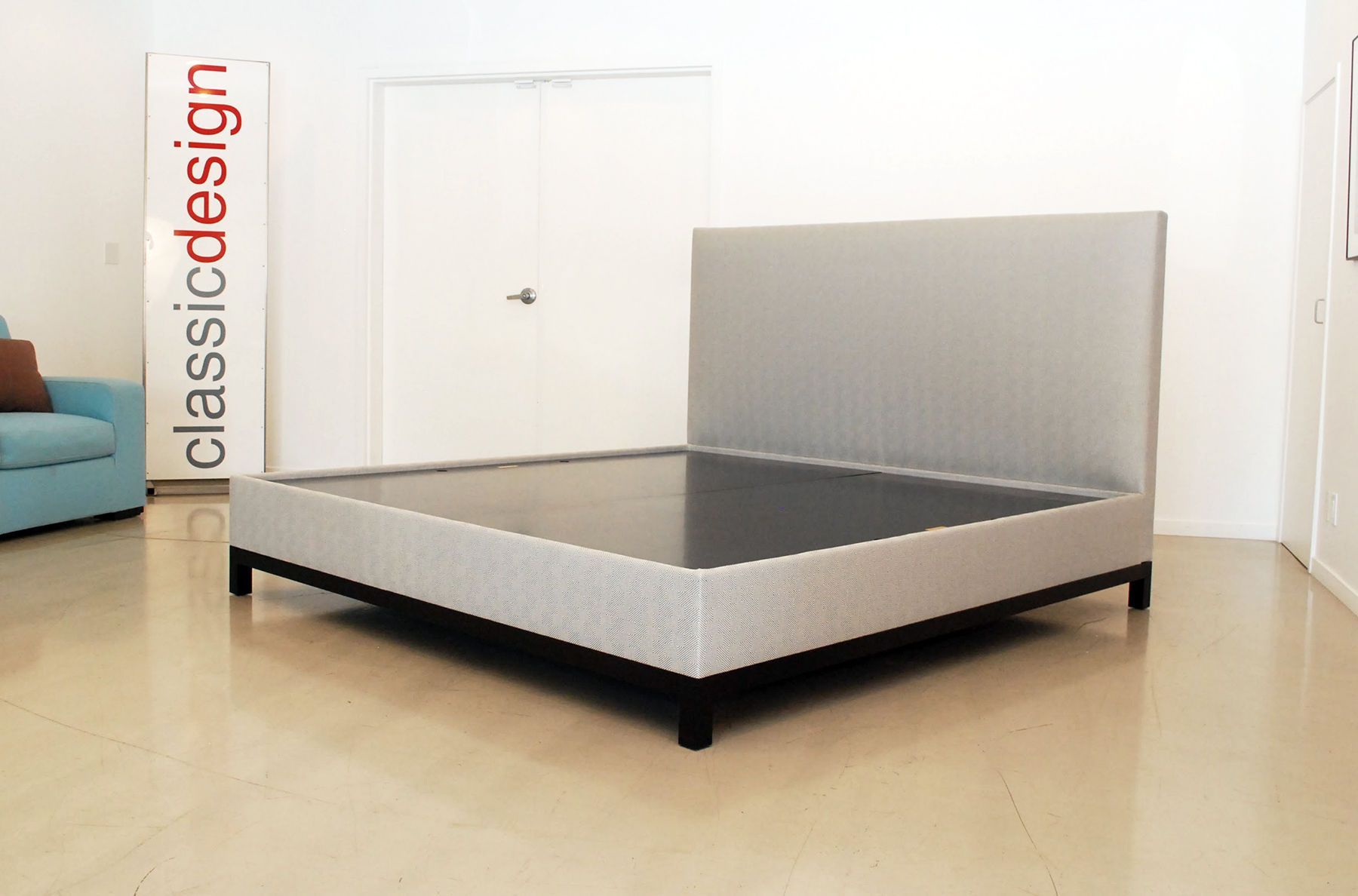 Classic Upholstered Headboard & Platform Base Bed