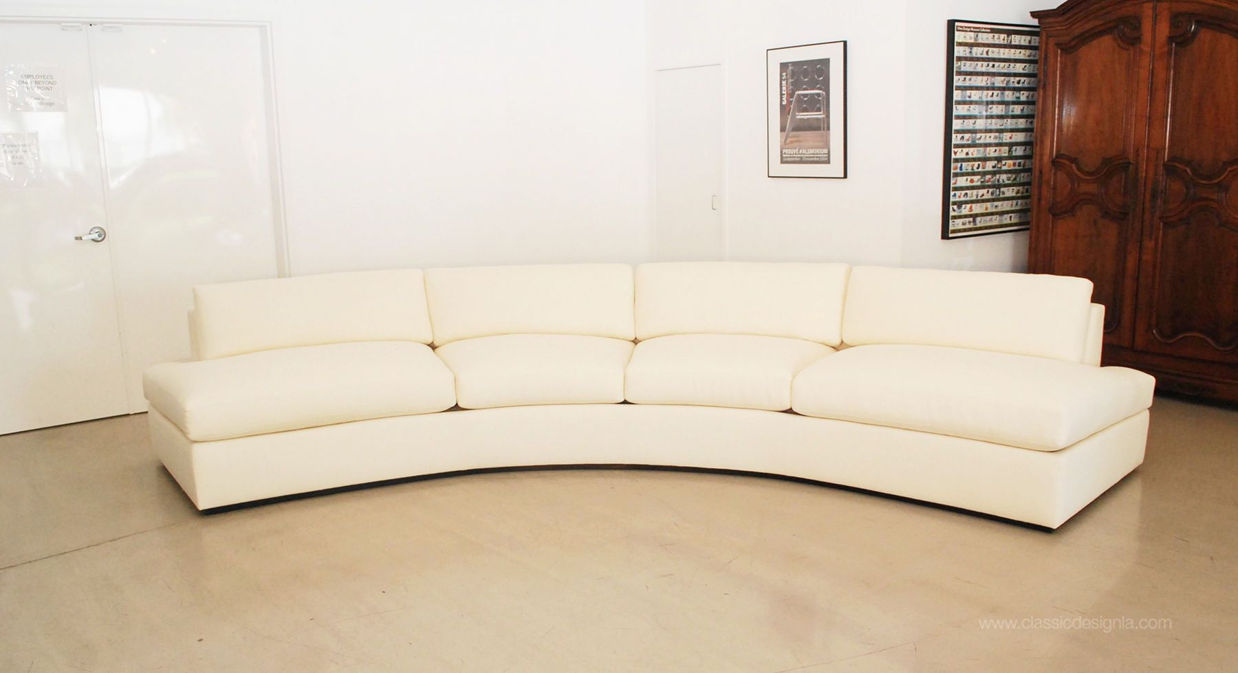 Milo Baughman inspired Curved Sofa