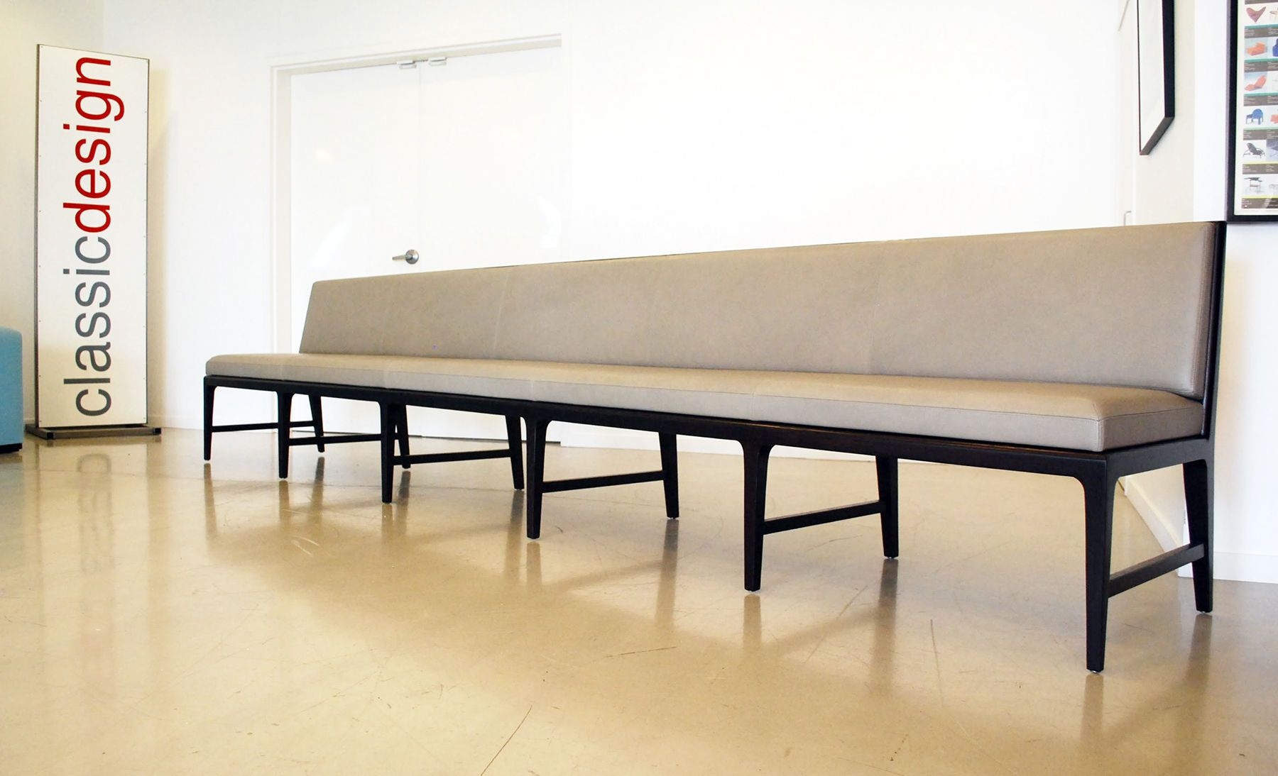 Long Leather Banquette