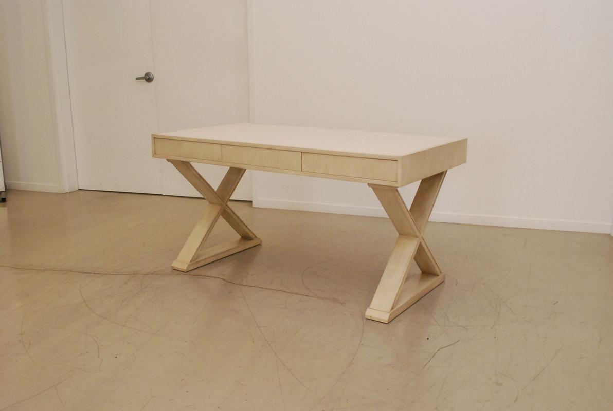 White Oak X-Base Desk