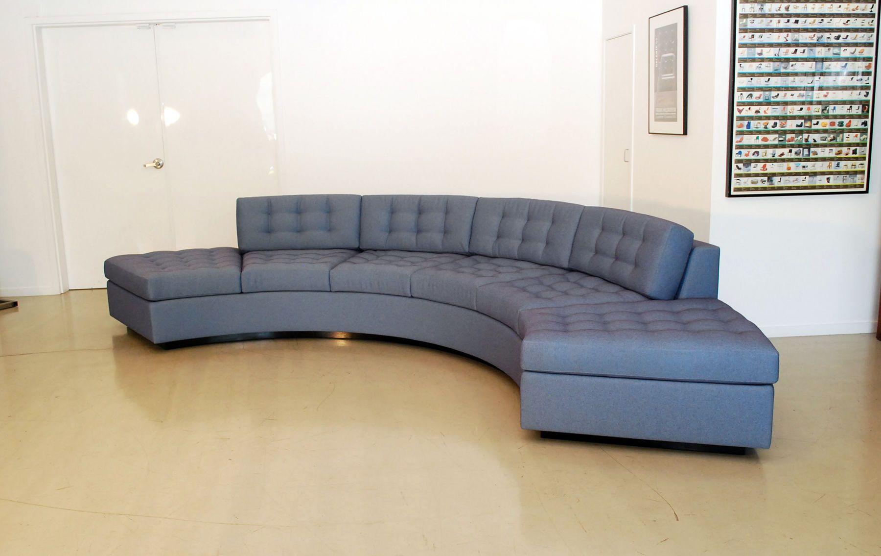 Milo Baughman Inspired Curved Sofa; Milo Baughman Inspired Sofa ...