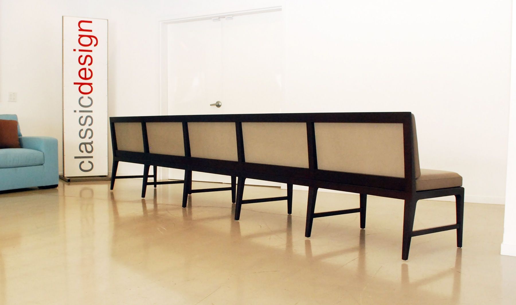 Long Leather Banquette - back detail