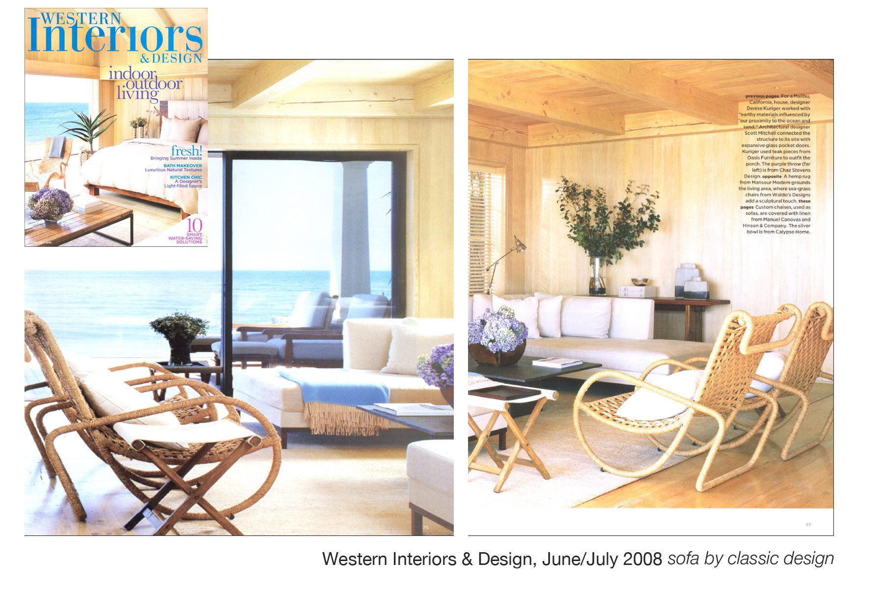 Western Interiors & Design Magazine, June/July 2008