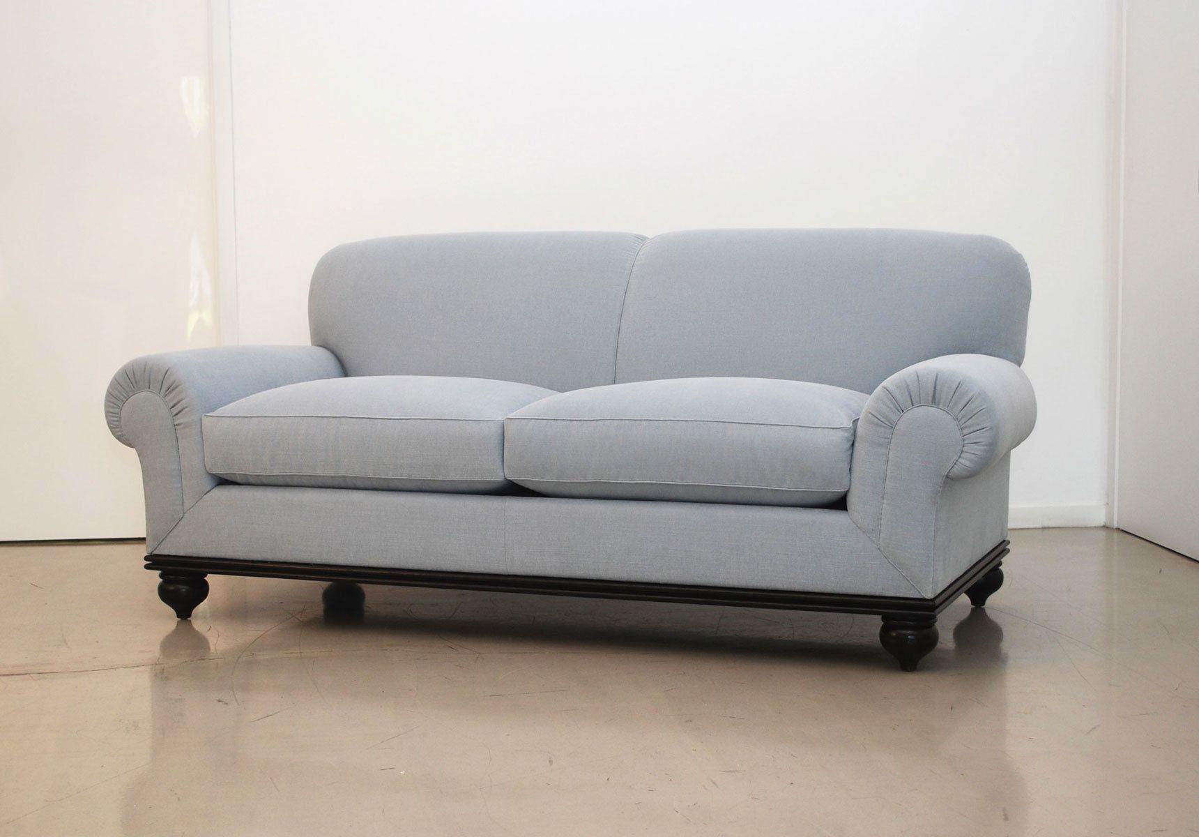Custom classic rolled arm sofa