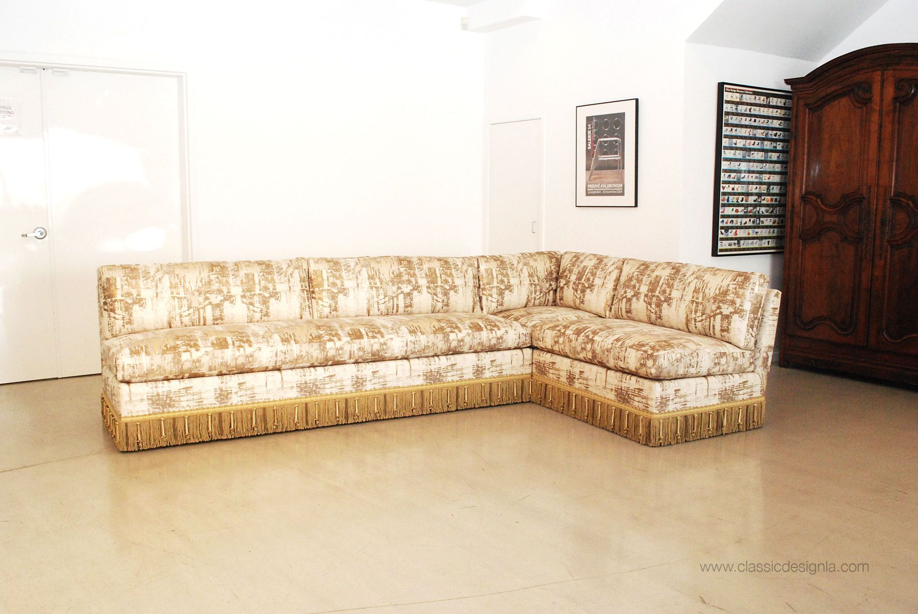 Custom Armless Sectional Sofa