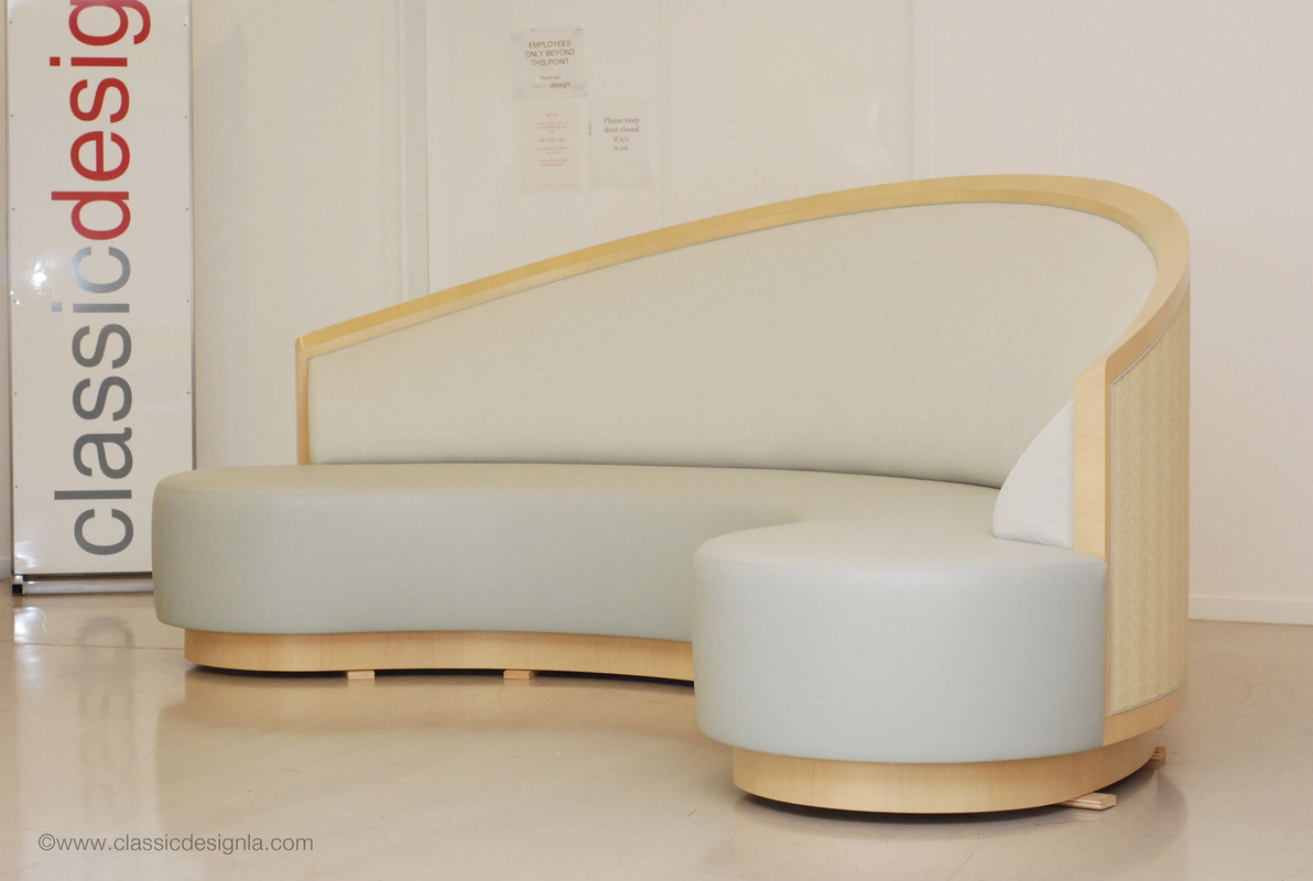 Custom Lounge Banquette with Cane Back (Hospitality)