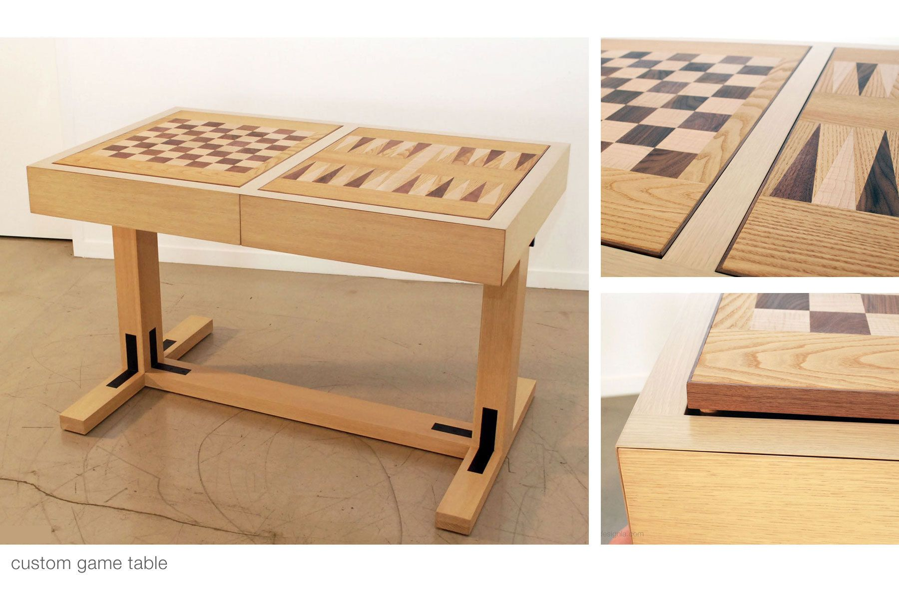 Custom Game Table with Removable Game Boards