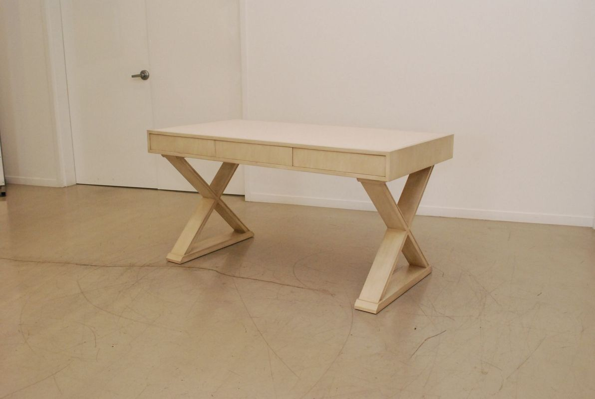 White Oak X-Base Desk